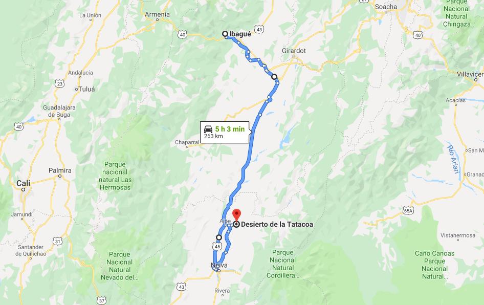 ¿Cómo llegar al Desierto de La Tatacoa desde Ibagué?